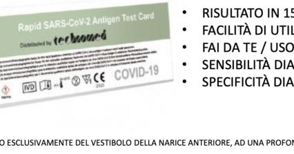 Tampone rapido covid 19 di libera vendita, il primo test fai da te in Italia – selftest antigenico